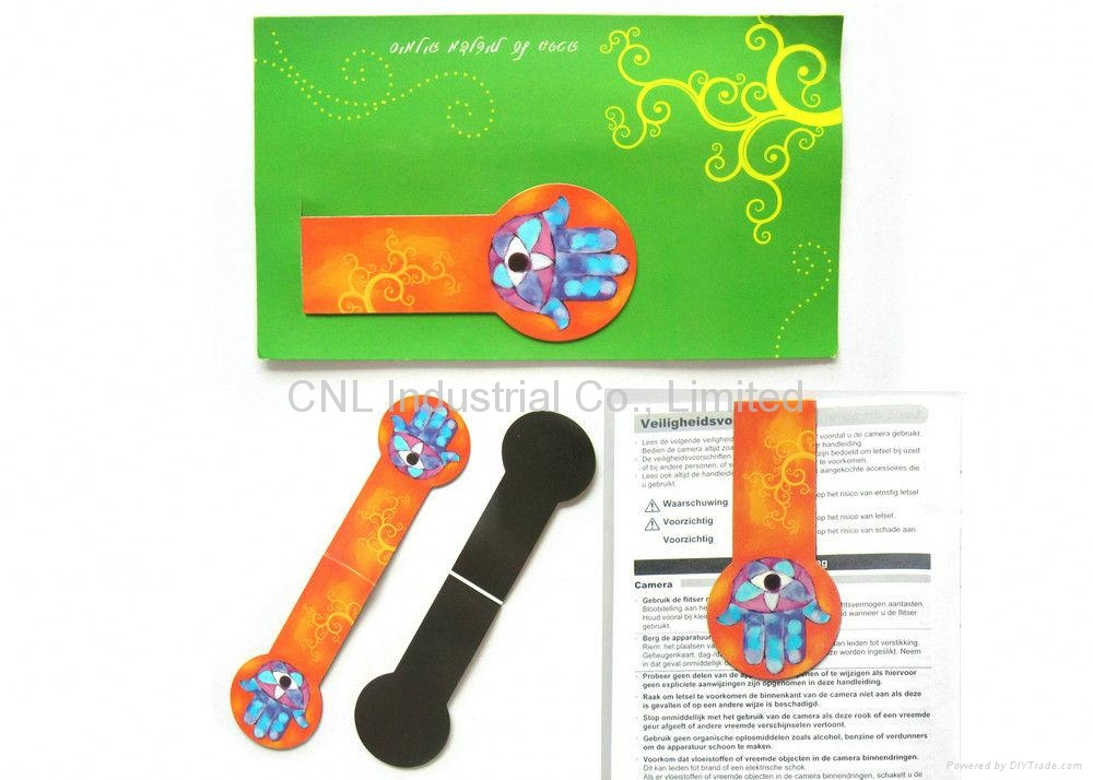 Page Flag Promotional Folding paper Magnetic Bookmark with printing