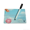 Personalized refrigerator magnetic memo board with magic erasable marker pen