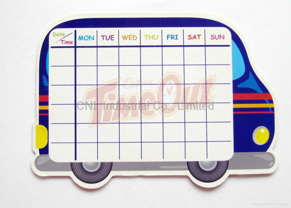 Waterproof magnetic whiteboard with dry erase marker pen with logo printing 1