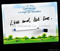 Waterproof magnetic whiteboard with dry erase marker pen with logo printing 4