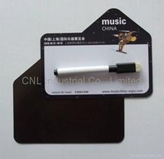 Magnetic dry eraser memo
