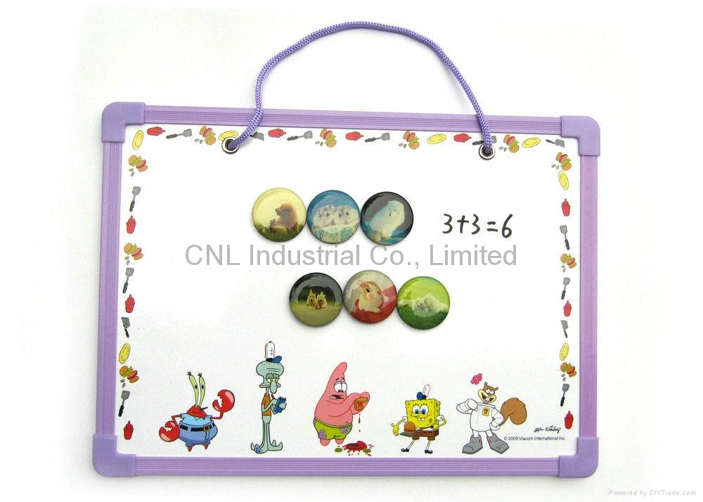 Decorative education gift magnetic drawing board for teching with printing 4