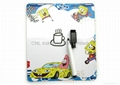 Early learning fridge magnetic whiteboard with magnet and marker pen, any shape