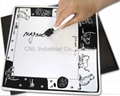 Early learning fridge magnetic whiteboard with magnet and marker pen, any shape  4