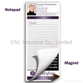 Promotion gifts self-adhesive magnetic notepad with OEM logo printing for fridge