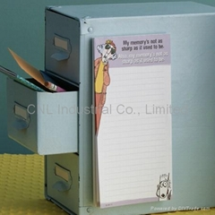 Customized fridge magnet with notepad/memo pad/sticky note pad