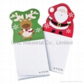 Customized Xmas designadvertising gift magnetic sticky note pad for promotion