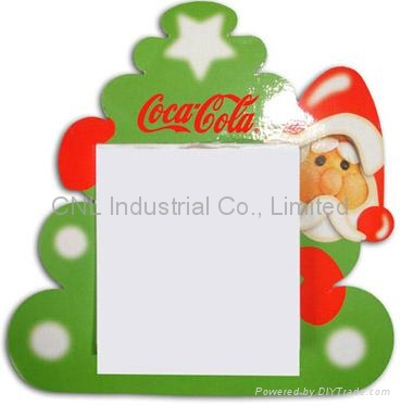 Customized Xmas designadvertising gift magnetic sticky note pad for promotion 2