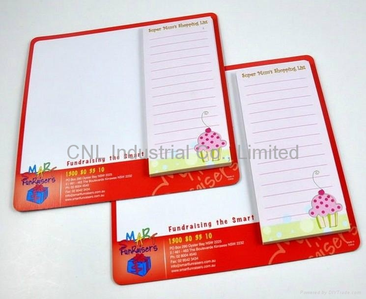 Customized Xmas designadvertising gift magnetic sticky note pad for promotion 4