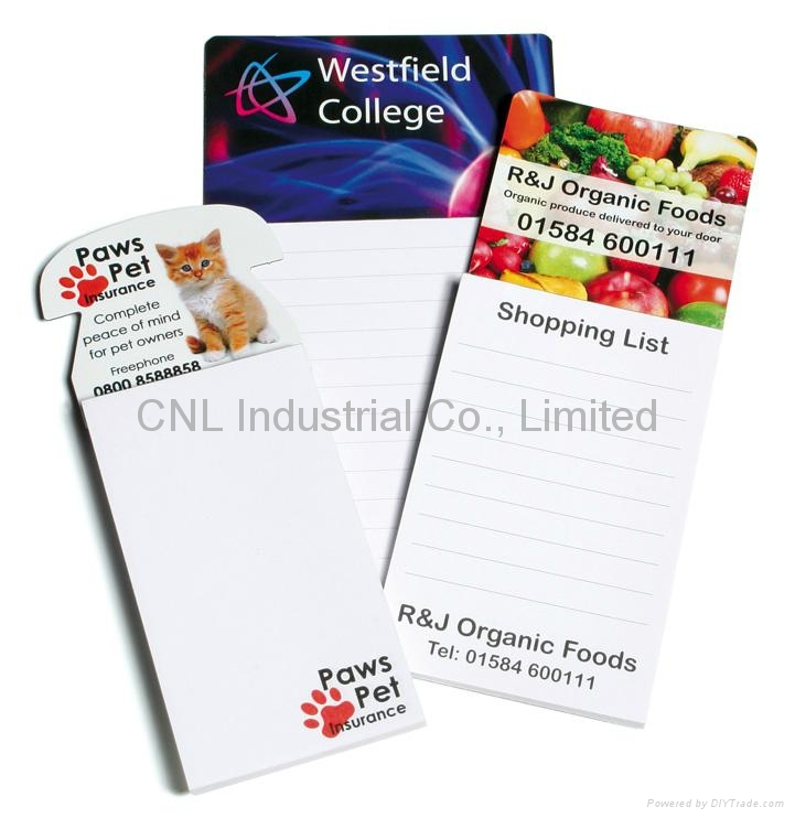 Customized magnetic paper scratchpad with logo printing 2