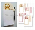 Customized magnetic note pad with pencil/ pen/ drawing pen