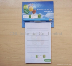 Sticky magnetic memo pad/note pad with pen for promotion gift