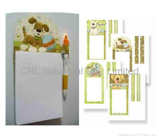 Sticky magnetic memo pad/note pad with pen for promotion gift 3