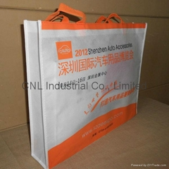 Non woven handle bag wit