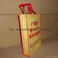 Customized logo printed non woven shopping bag with handle 2