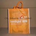 Customized logo printed non woven shopping bag with handle 3