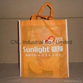 Customized logo printed non woven shopping bag with handle