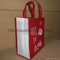 Customized logo printed non woven shopping bag with handle 5