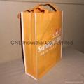 Customized logo printed non woven shopping bag with handle 6