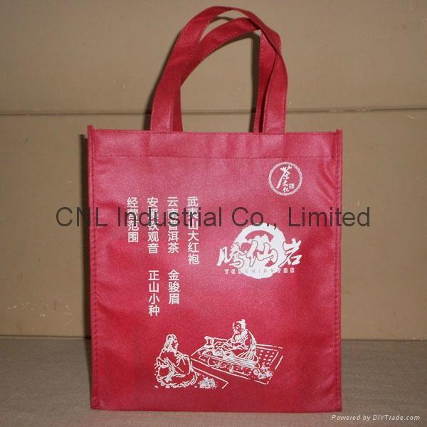 Customized logo printed non woven shopping bag with handle 8
