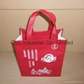 Customized logo printed non woven shopping bag with handle 9