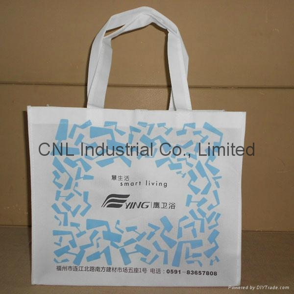 Eco friendly non woven handle bag with bottom and guesset 1