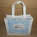 Eco friendly non woven handle bag with bottom and guesset 3