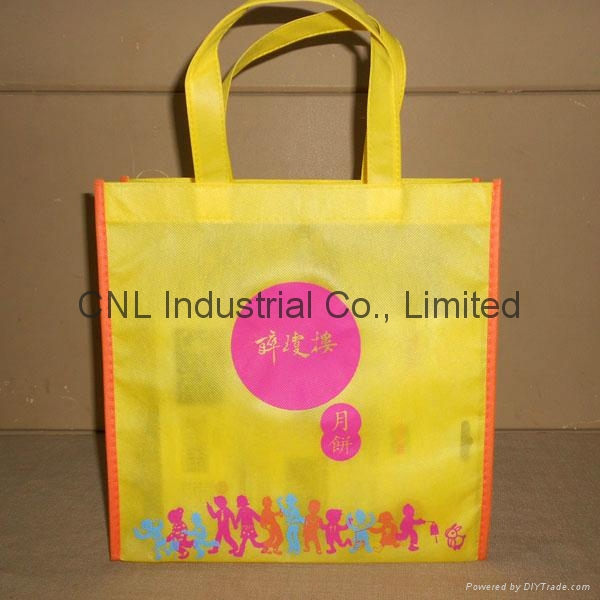 Eco friendly non woven handle bag with bottom and guesset 6