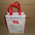 High quality logo printed pp non woven shopping tote bag 2