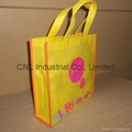 High quality logo printed pp non woven shopping tote bag 3