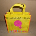 High quality logo printed pp non woven shopping tote bag