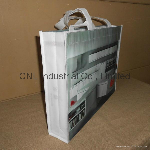 Customzied laminated non woven shopping bag 7