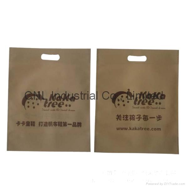 Customized logo printed die cut non woven shopping bag