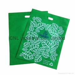 Silk screen logo printed ultrasonic heat seal pp non woven reusable bag
