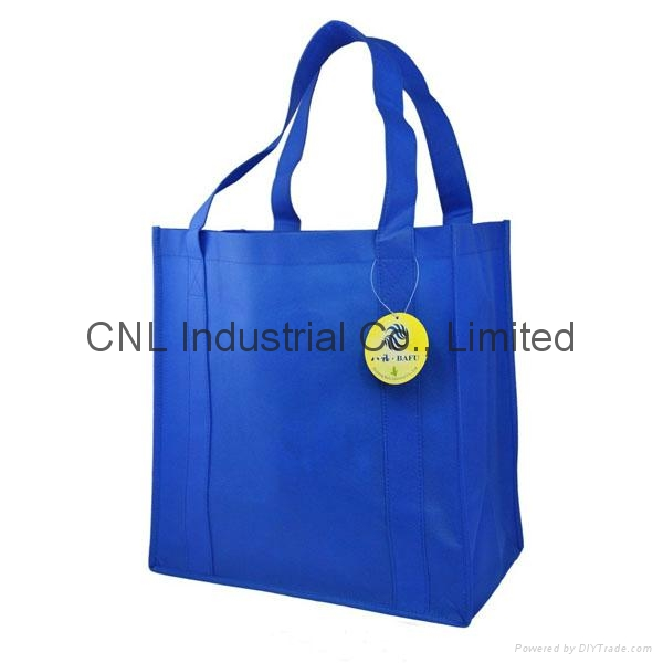 Promotional reinforced non woven handle shopping bag 1