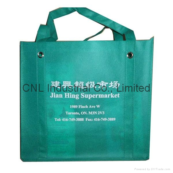 Promotional reinforced non woven handle shopping bag 3