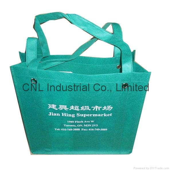Promotional reinforced non woven handle shopping bag 4