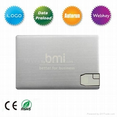 Metal Card USB Flash Drive for Promotional Gift