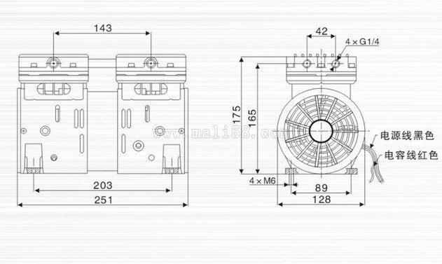 曝光機無油小型真空泵 2