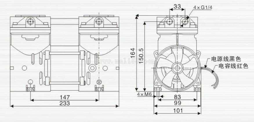 鍍膜機無油小型真空泵 2