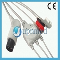 Pro1000 One piece 5-lead ECG Cable with leadwires