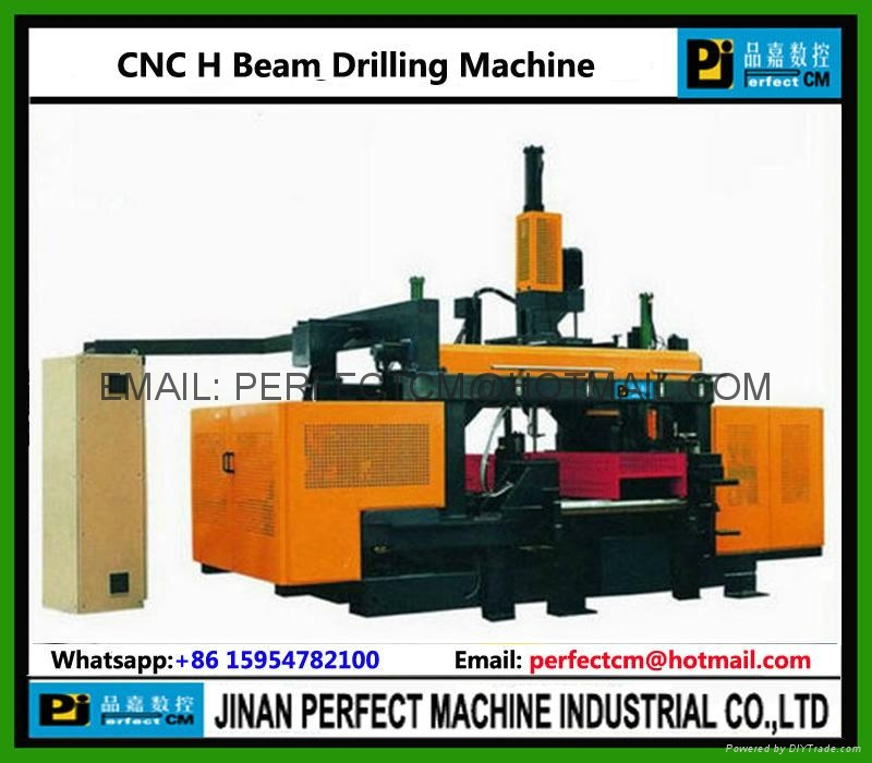 CNC Beams Drilling Line Machine with Band Sawing Line