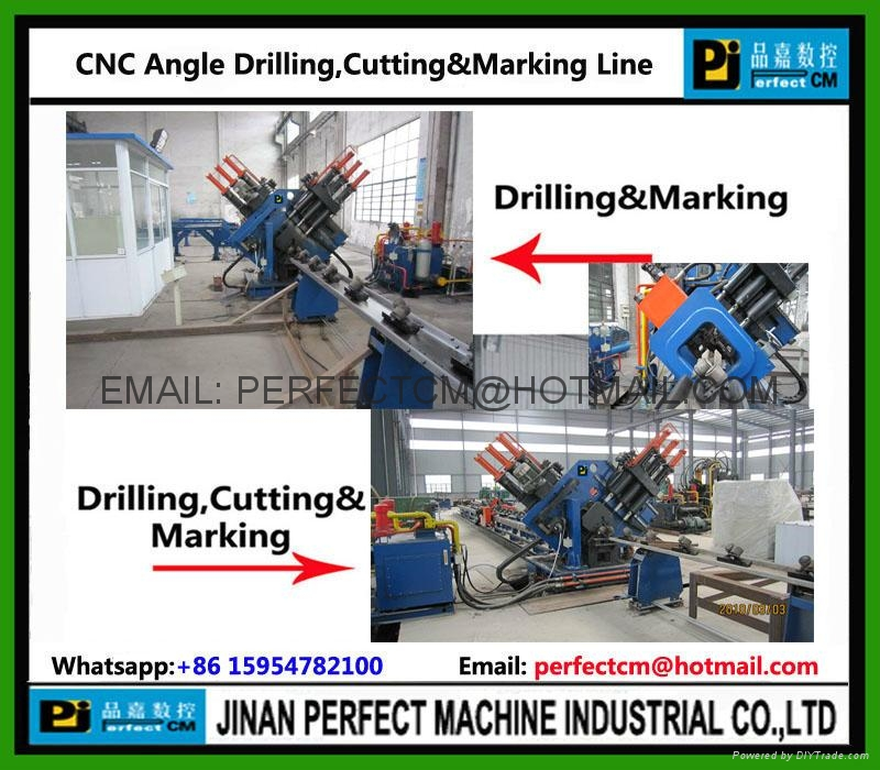 CNC Angle Drilling And Marking Line