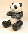 PU皮熊猫公仔 2