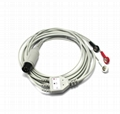 One-Piece 3 Lead ECG Cable with Leadwire