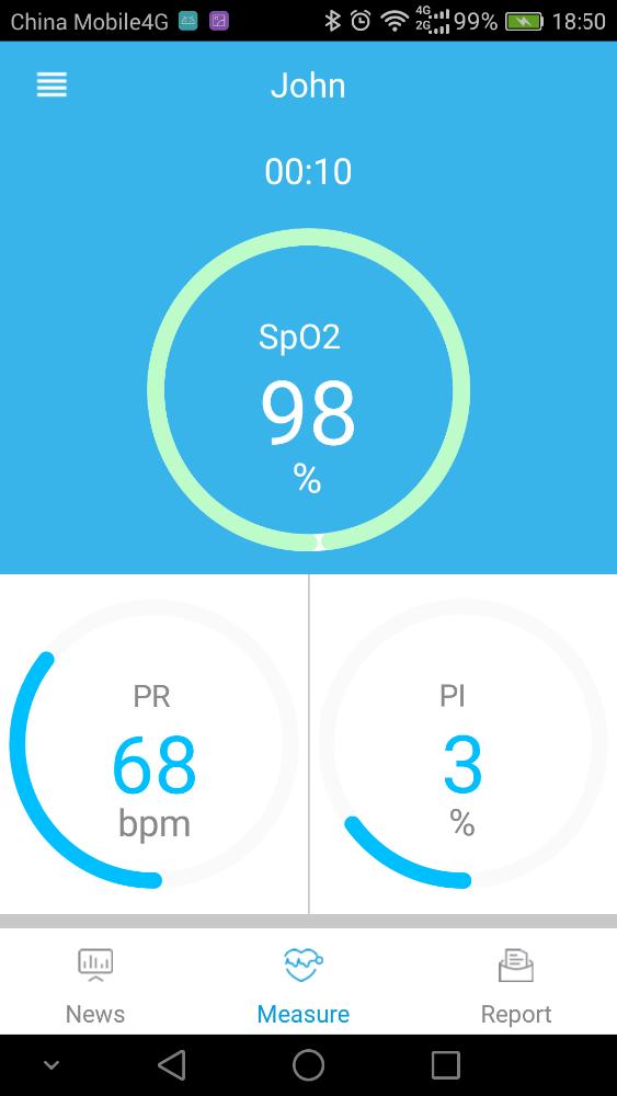 Hot selling Digital Wrist Pulse Oximeter OLED 4