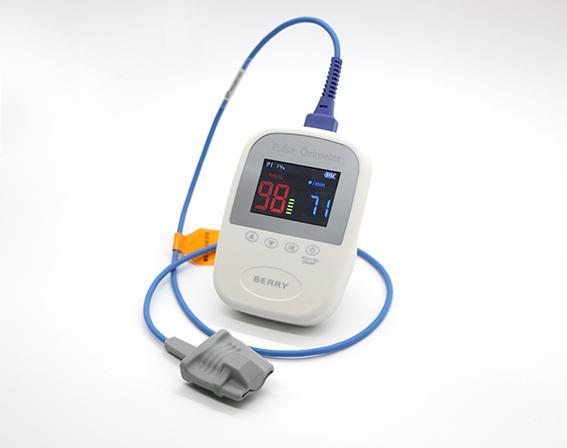CE/FDA批准的SpO2监护仪手持指尖脉搏血氧计 1