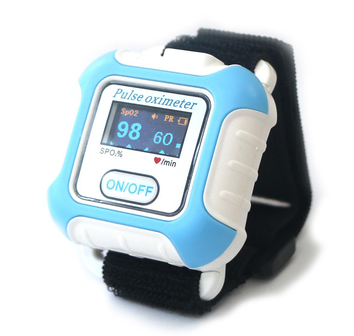 血氧传感器LCD屏医用睡眠腕部脉搏血氧仪 1