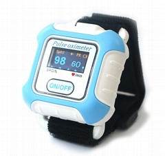 SPO2 Saturation Meter Wrist Pulse Oximeter With IOS Android PC Bluetooth