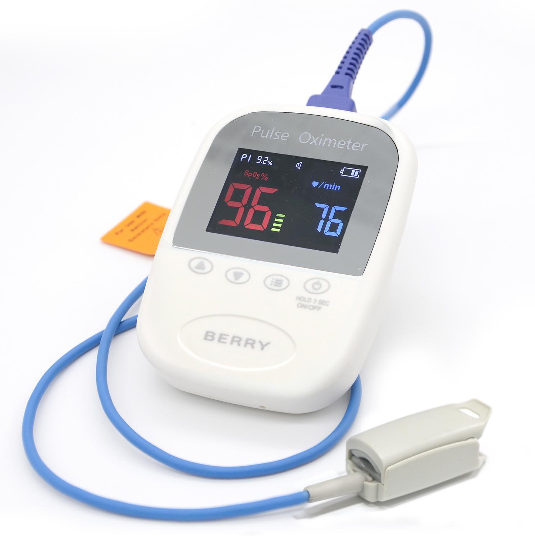藍牙無線功能手持便攜式脈搏血氧儀帶有USB連接器 1